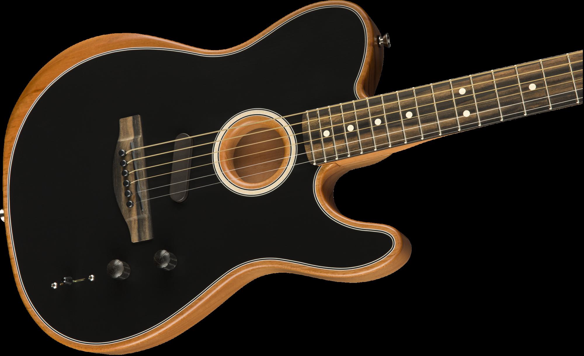 Fender American Acoustasonic Telecaster Ebony Fingerboard - Black