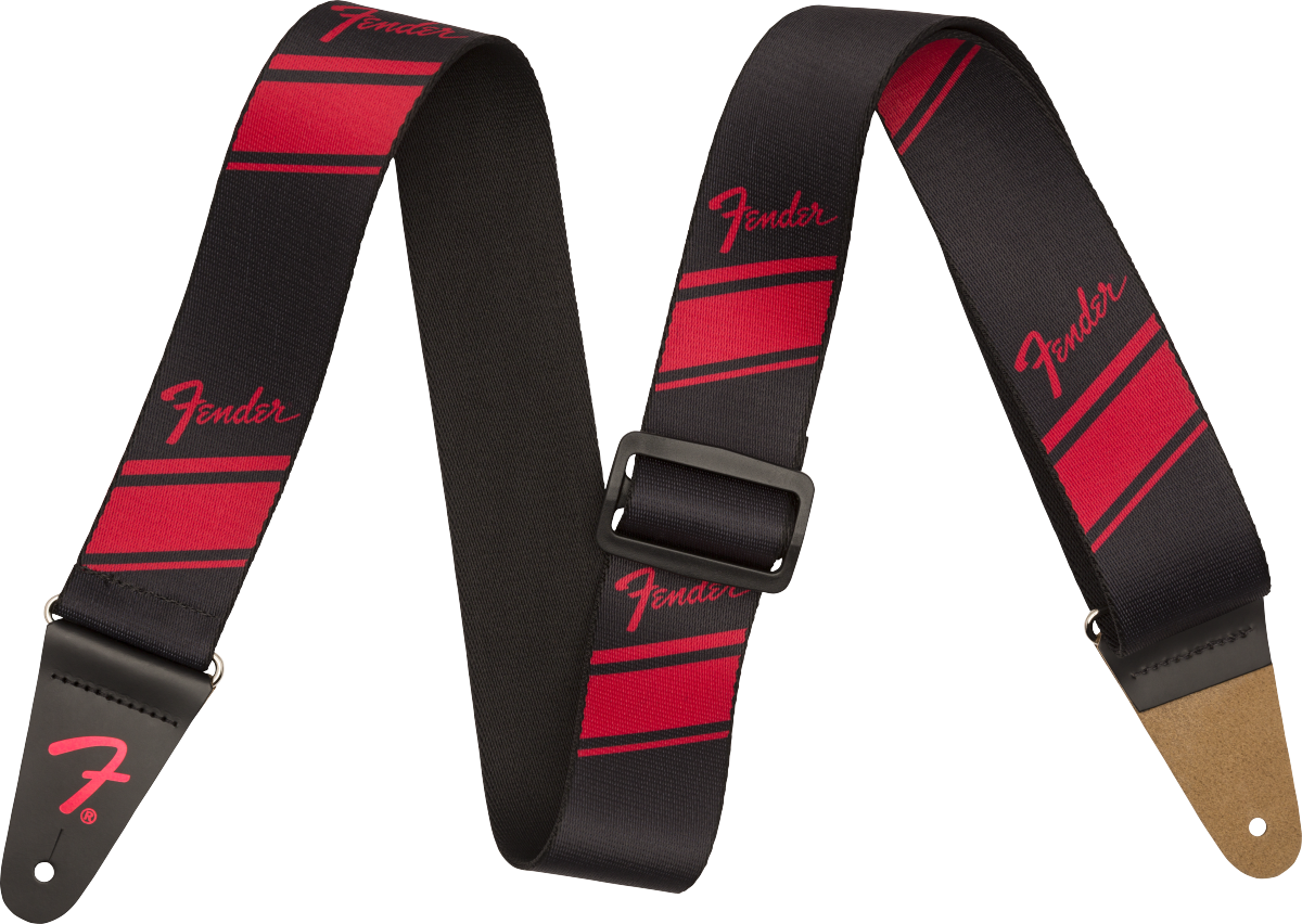 Fender Competition Stripe Strap, Ruby
