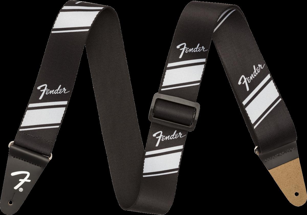 Fender Competition Stripe Strap, Silver