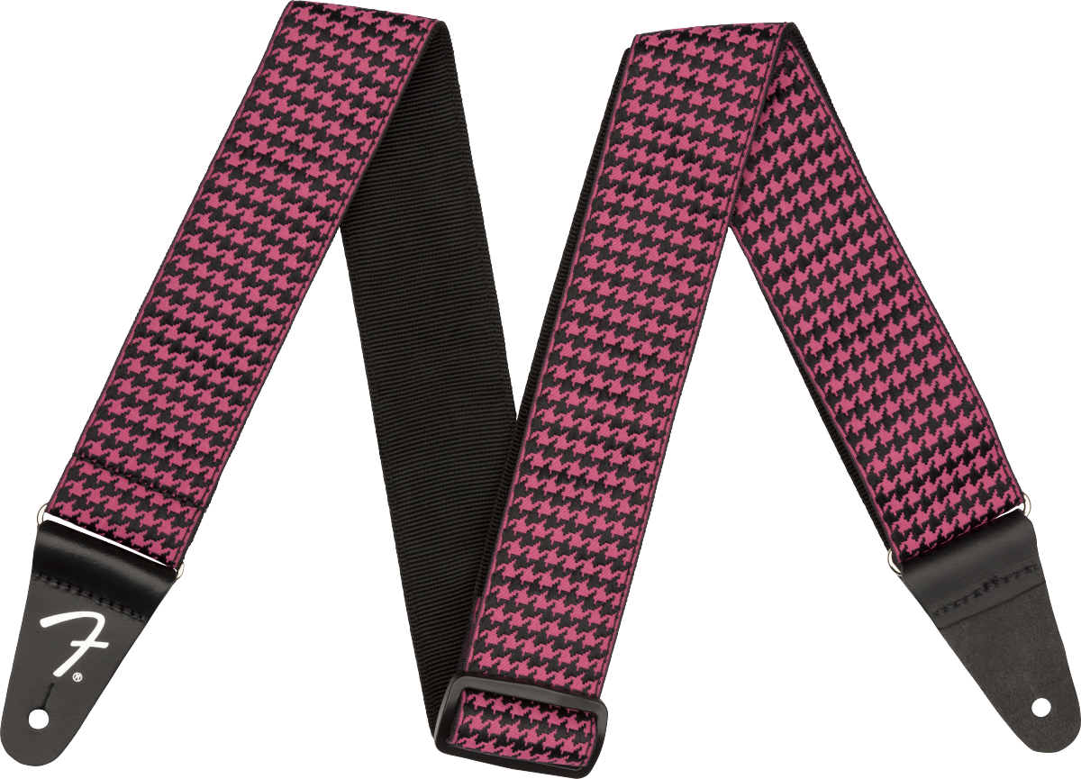 Fender Houndstooth Strap - Pink