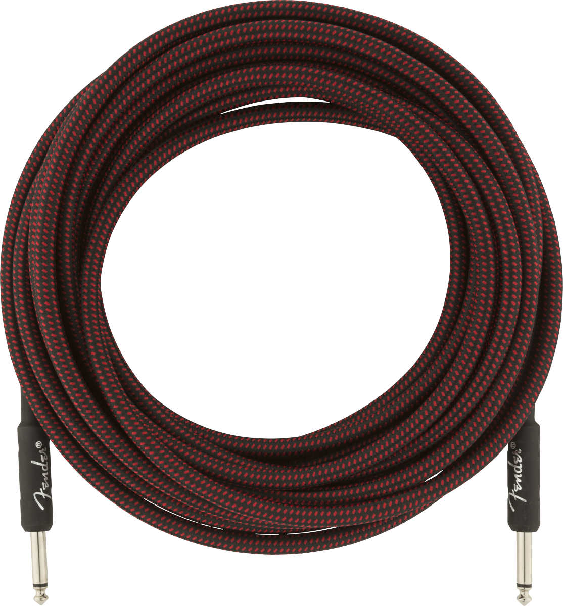 Fender Professional Series Instrument Cable, 25', Red Tweed