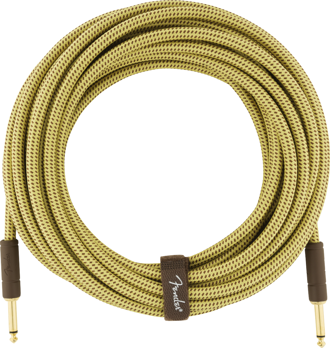 Fender Deluxe Series Instrument Cable, Straight/Straight, 25', Tweed