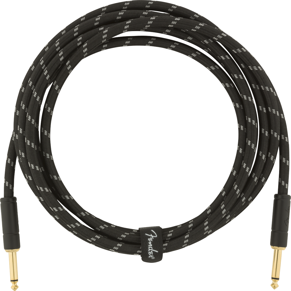 Fender Deluxe Series Instrument Cable Straight/Straight 10' - Black Tweed