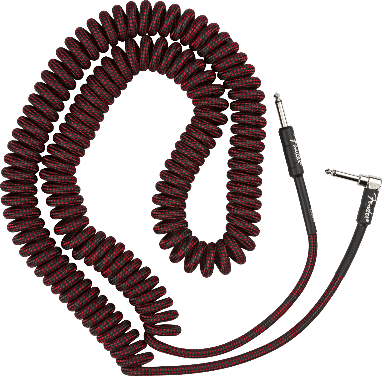 Fender Professional Coil Cable, 30', Red Tweed
