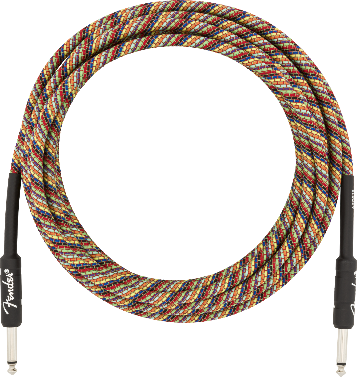 Fender 18.6' Festival Instrument Cable, Pure Hemp, Rainbow