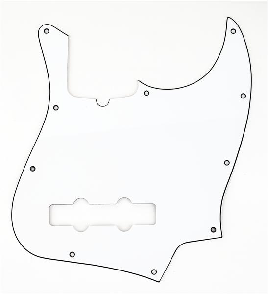 Fender Jazz Bass Pickguard 10-Hole Mount (with Truss Rod Notch) W/B/W 3-Ply