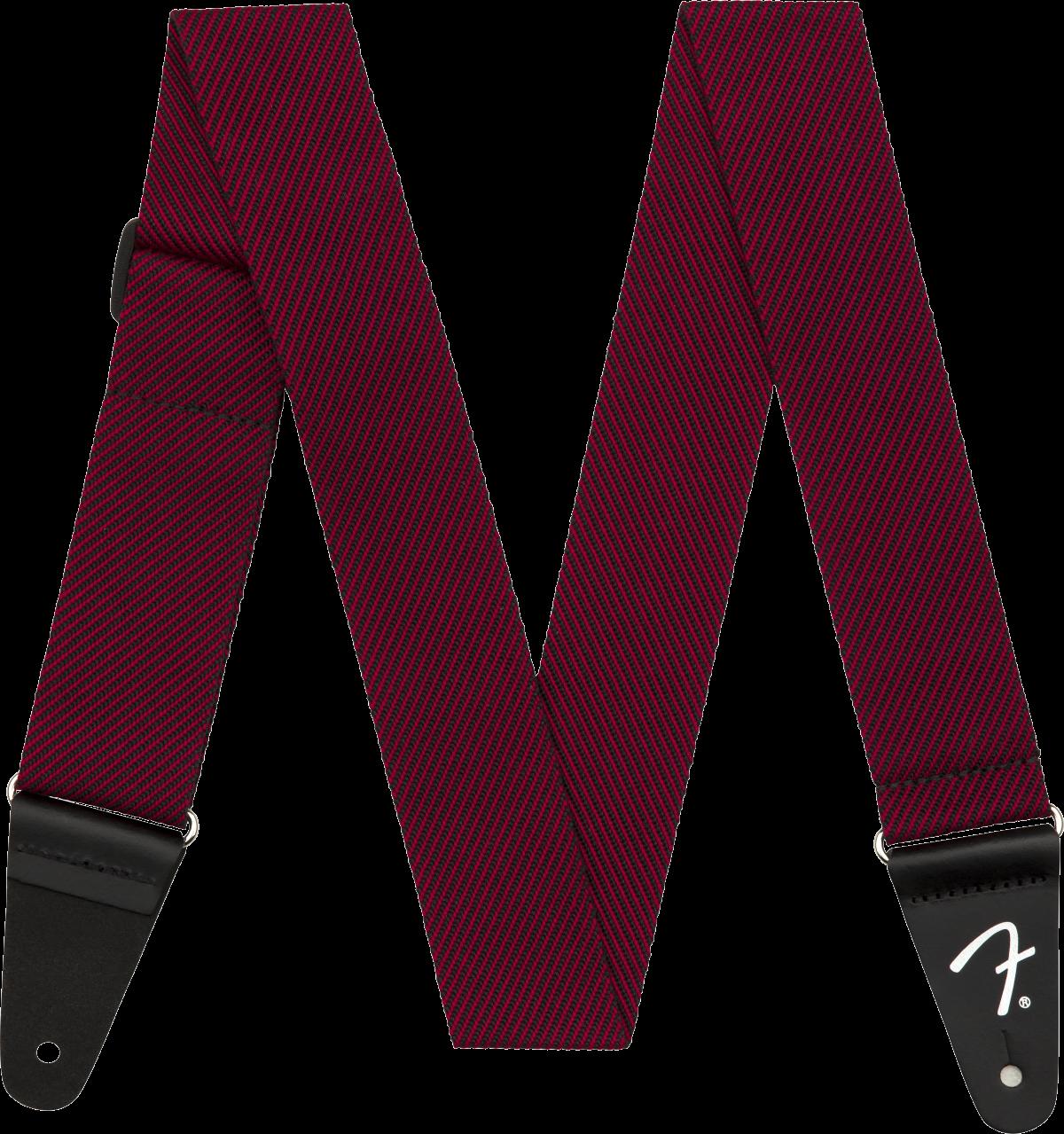 Fender Modern Tweed Strap, Black/Red 2