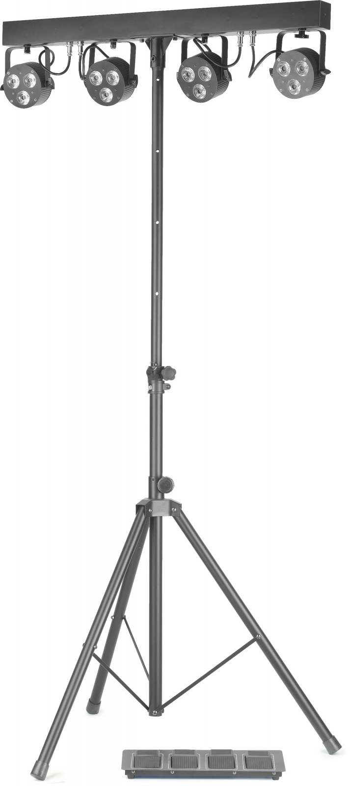 Stagg 4 Light Set With 4 Flat PAR LED Spotlights