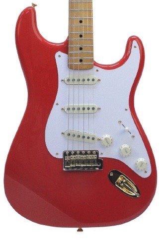 Fender FSR Limited Edition '50 Stratocaster - Fiesta Red, Gold Hardware Includes Tweed Hardshell Case
