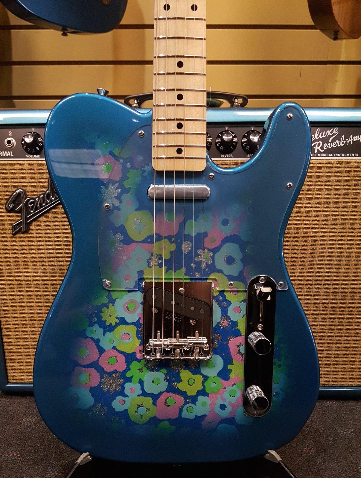Used Fender 2016 Blue Flower Telecaster Made in Japan