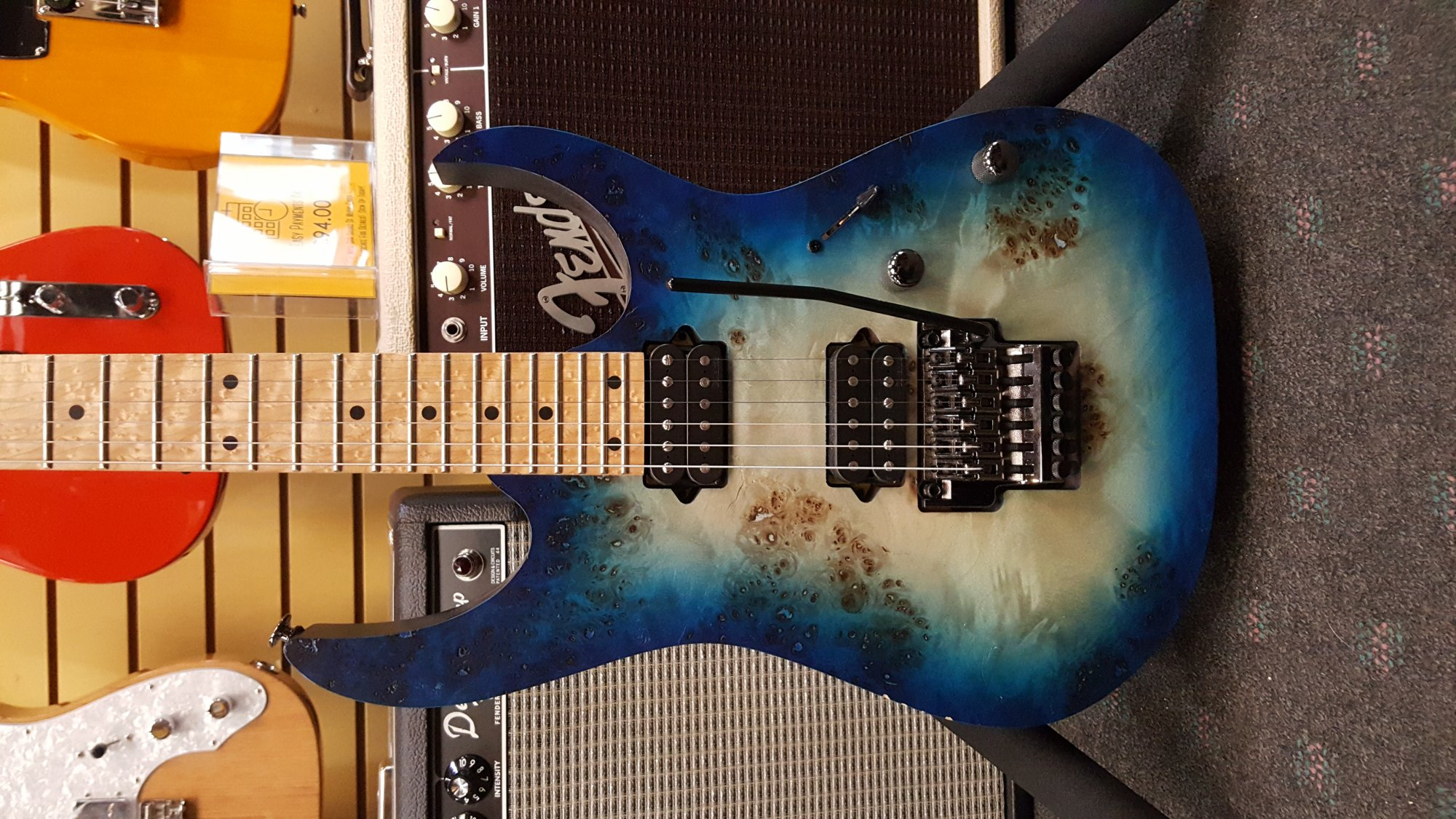 Demo Ibanez RG652MPB Prestige Electric Guitar w/Case - Ghost Fleet Blue Burst