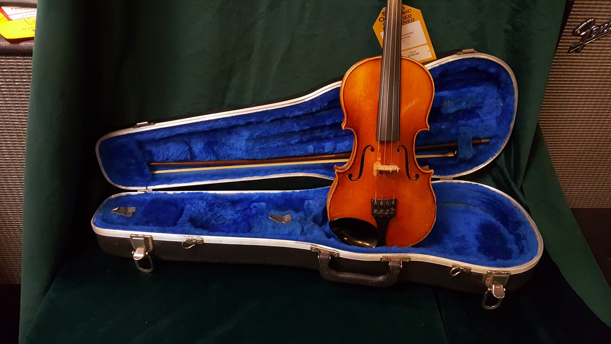 Vintage 1966 Frich Pfretzschner Roth 1/2 Violin Outfit