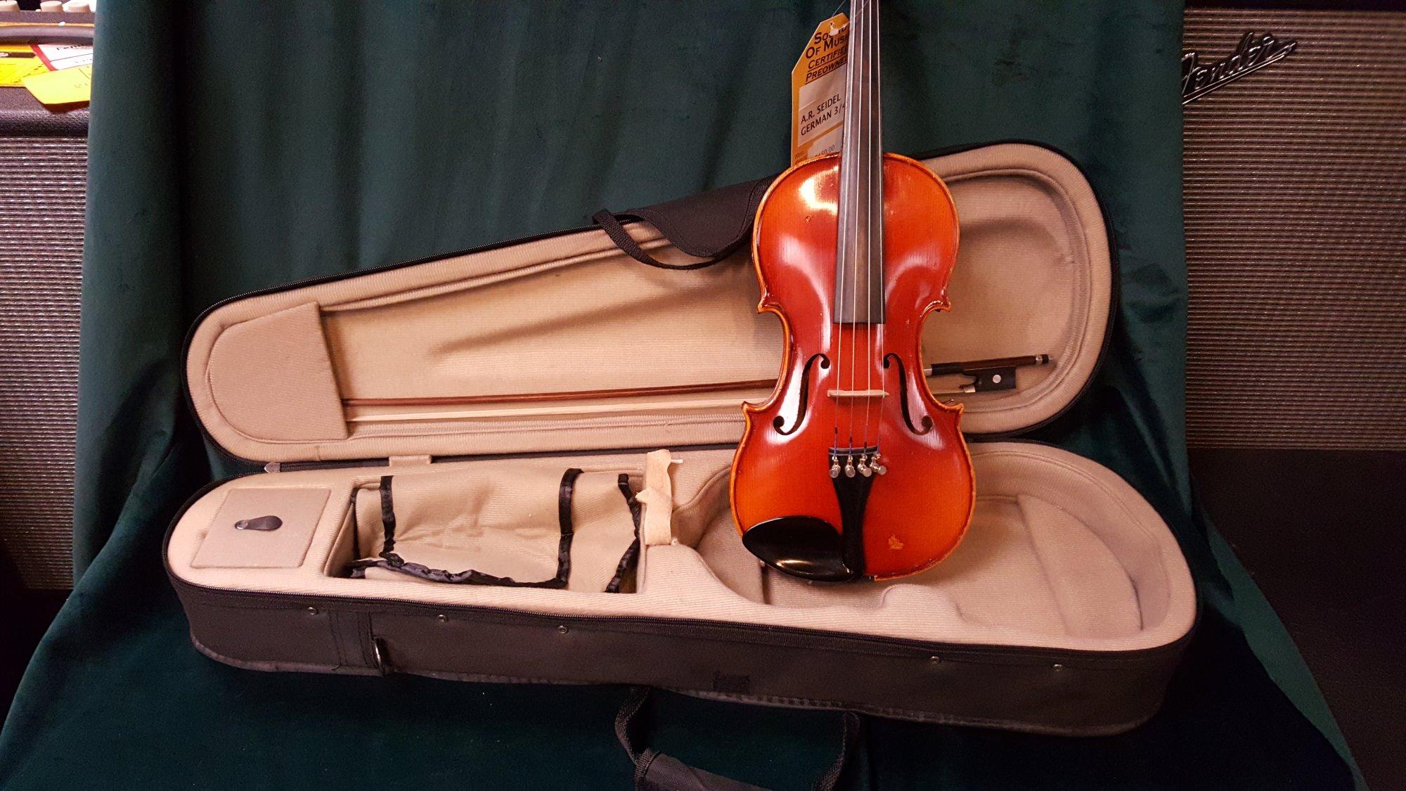 Vintage A.R. Seidel German 3/4 Violin Outfit
