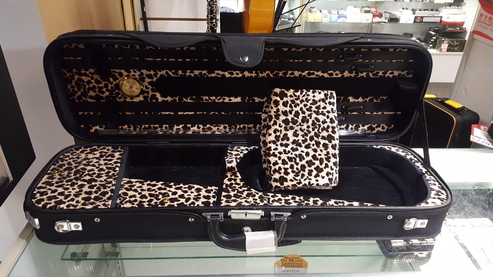 Sound of Music No. 5500 Deluxe Plywood Suspension 4/4 Violin Case - Safari Interior
