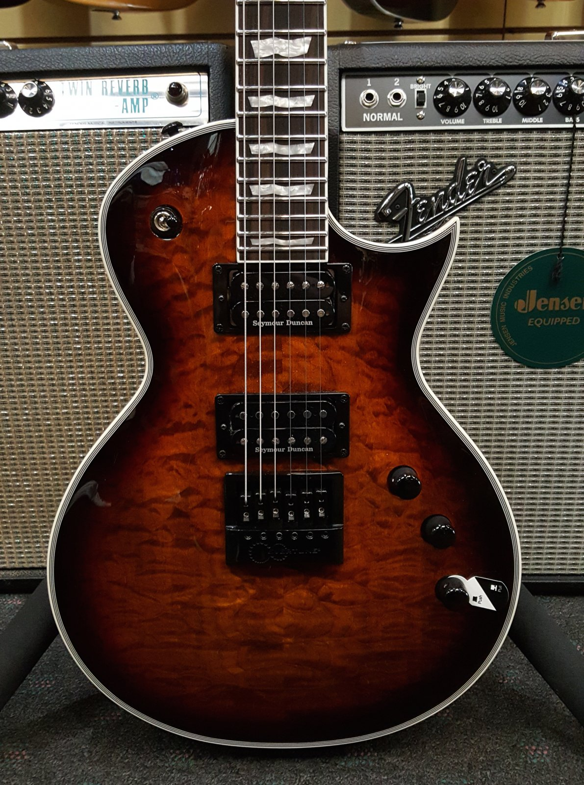 Demo ESP LTD EC-1000ET Evertune - Dark Brown Sunburst