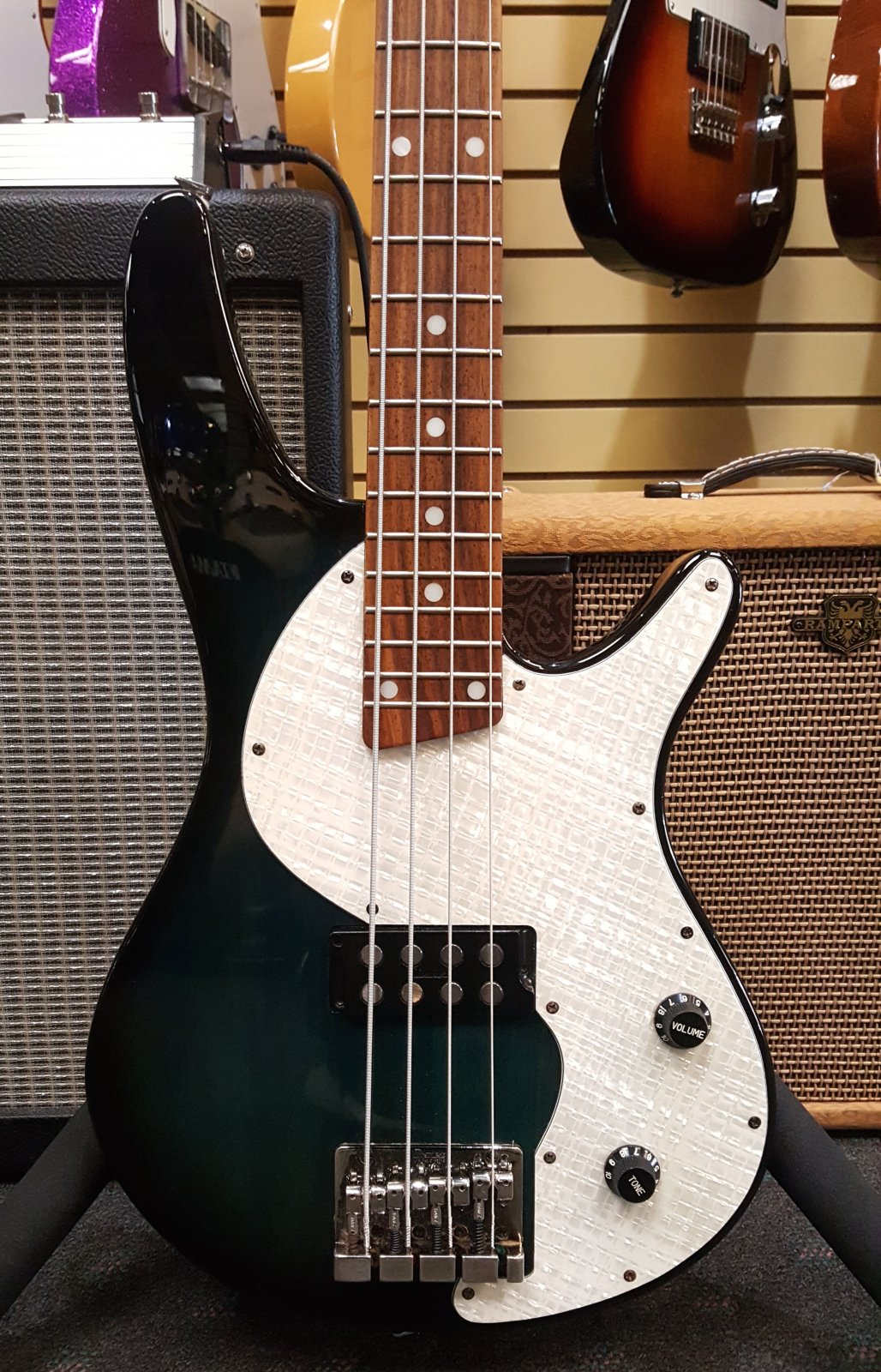 Used Ibanez SRX400 Electric Bass Guitar - Transparent Green