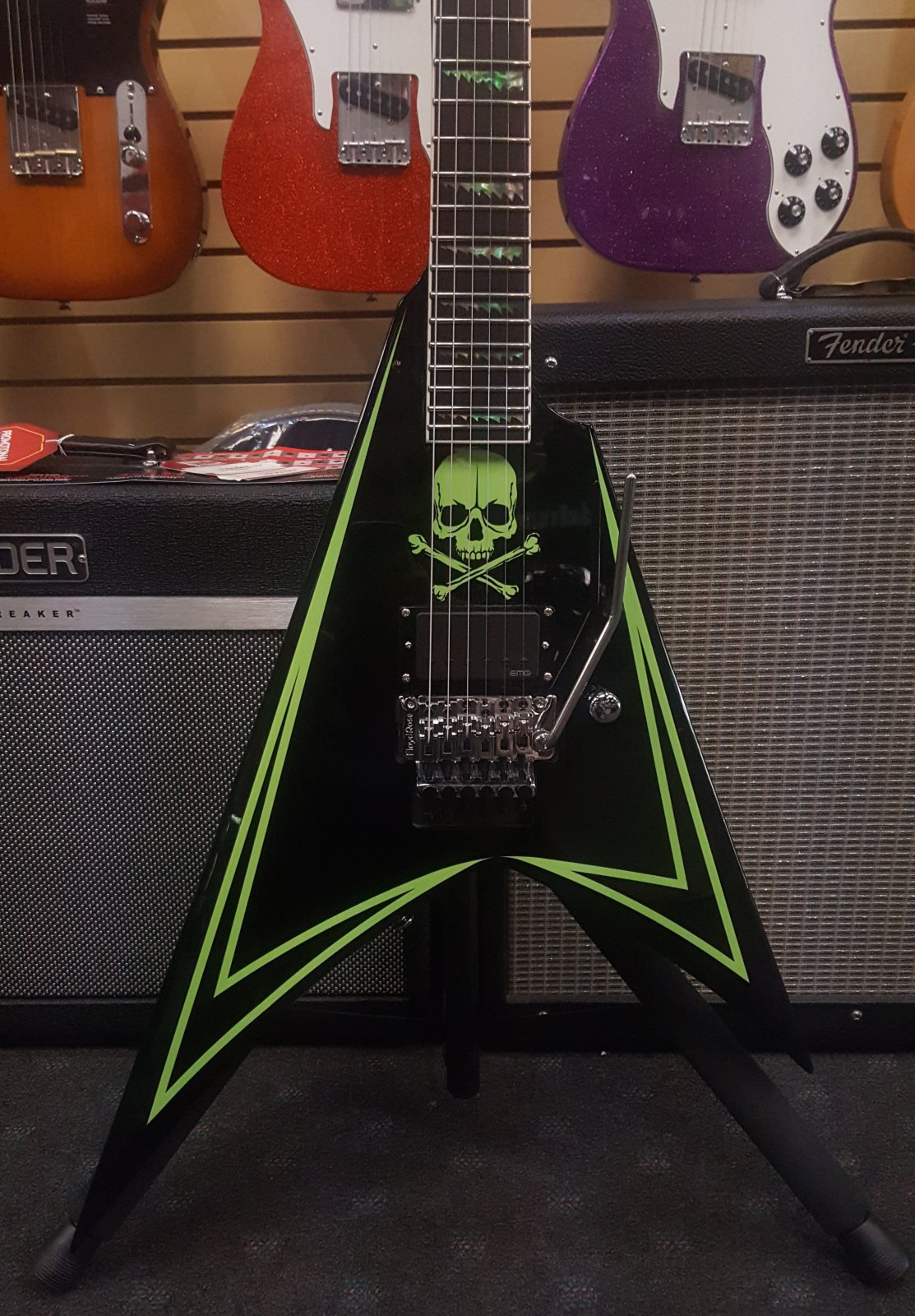 Demo ESP/LTD ALEXI-600 GREENY Electric Guitar with Hardshell Case