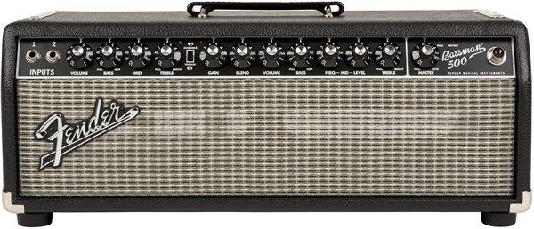 Fender Bassman 500 Head - Black/Silver