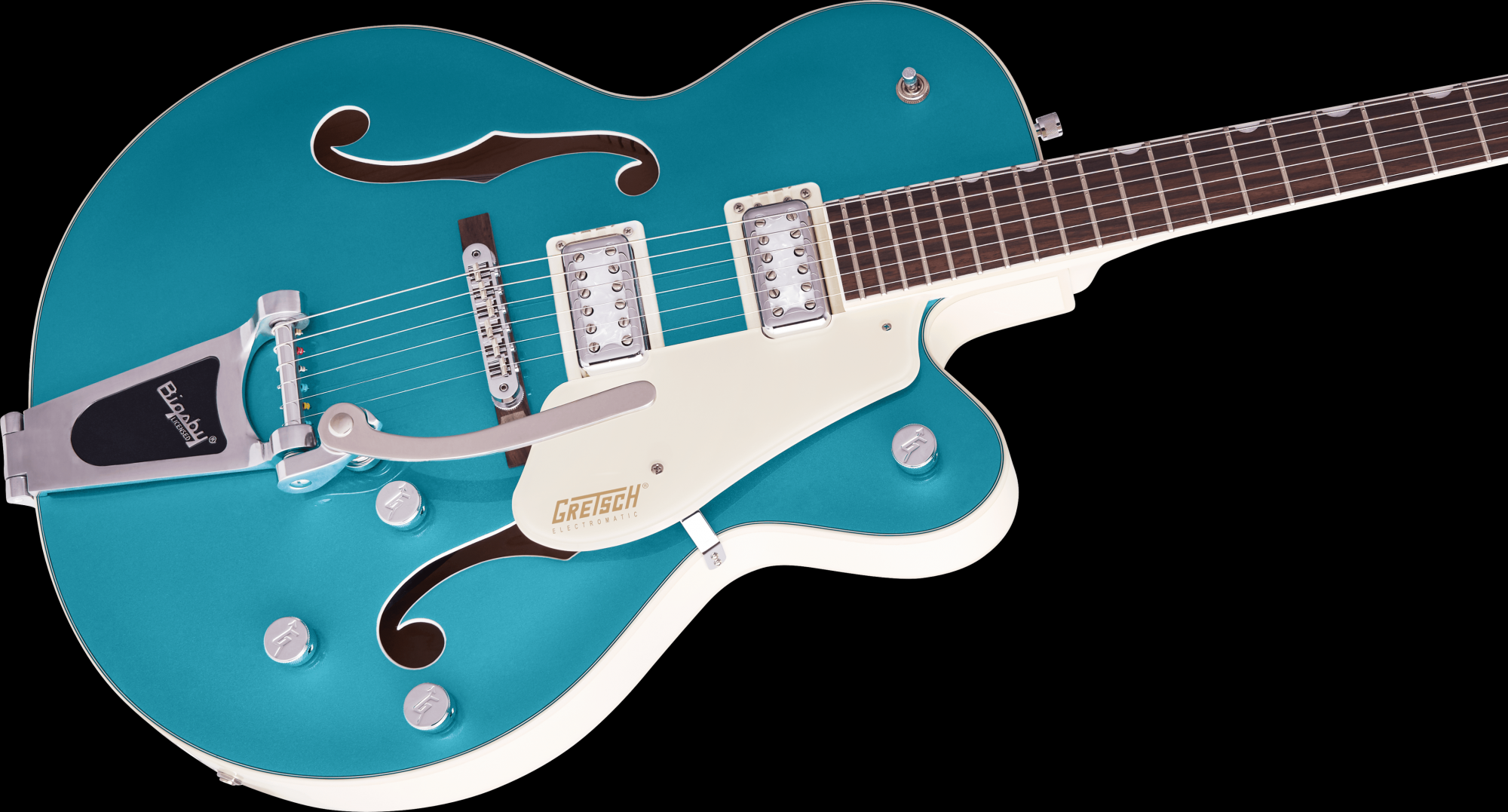 Gretsch G5410T Limited Edition Electromatic Tri-Five Hollow Body Single-Cut with Bigsby - Two-Tone Ocean Turquoise/Vintage White