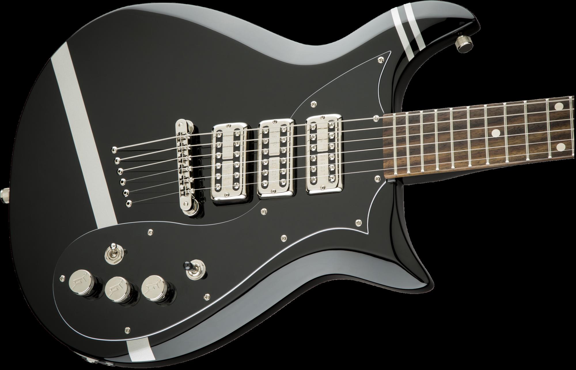 Gretsch G5135CVT-PS Patrick Stump Electromatic Stump-O-Matic CVT - Black with Pewter Stripes