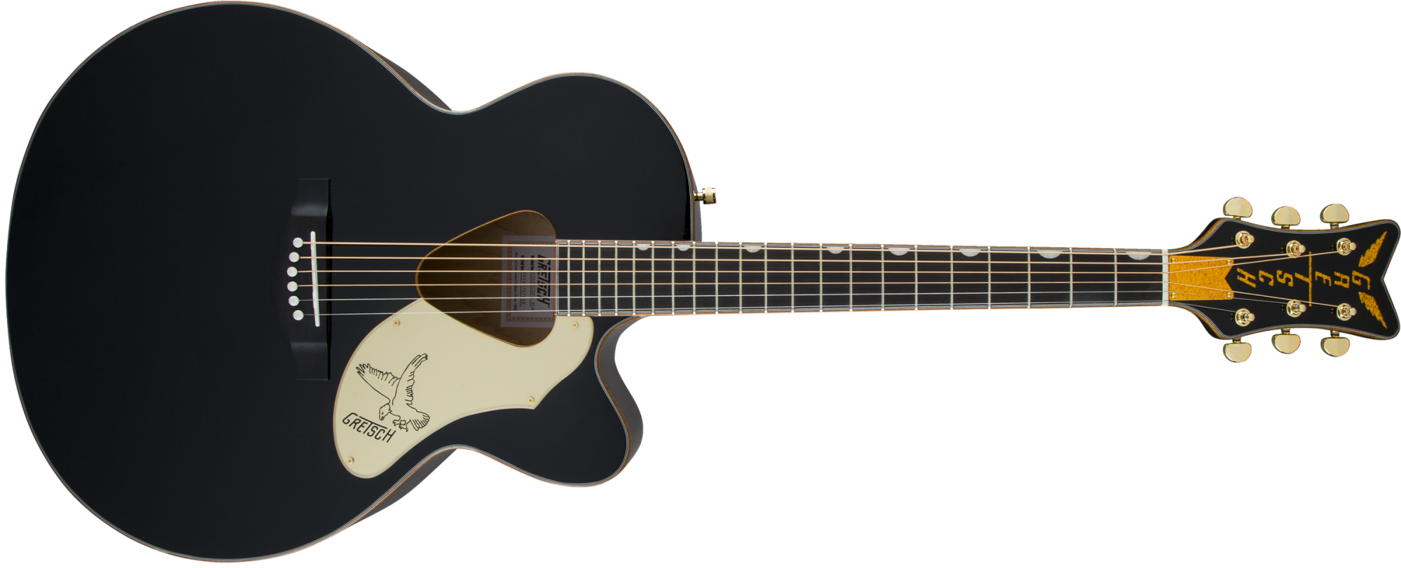 Gretsch G5022CBFE Rancher Falcon Jumbo Cutaway Acoustic/Electric-Black