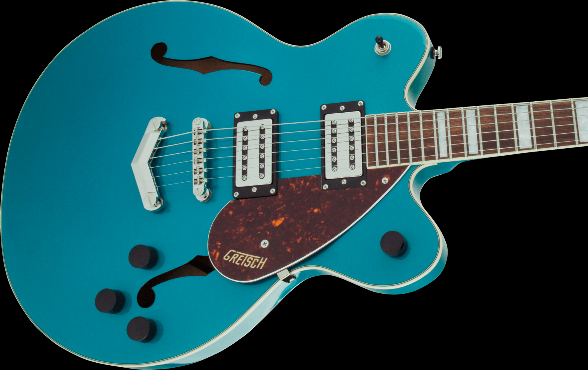 Gretsch G2622 Streamliner Center Block Double-Cut with V-Stoptail, Broad'Tron BT-2S Pickups Ocean Turquoise