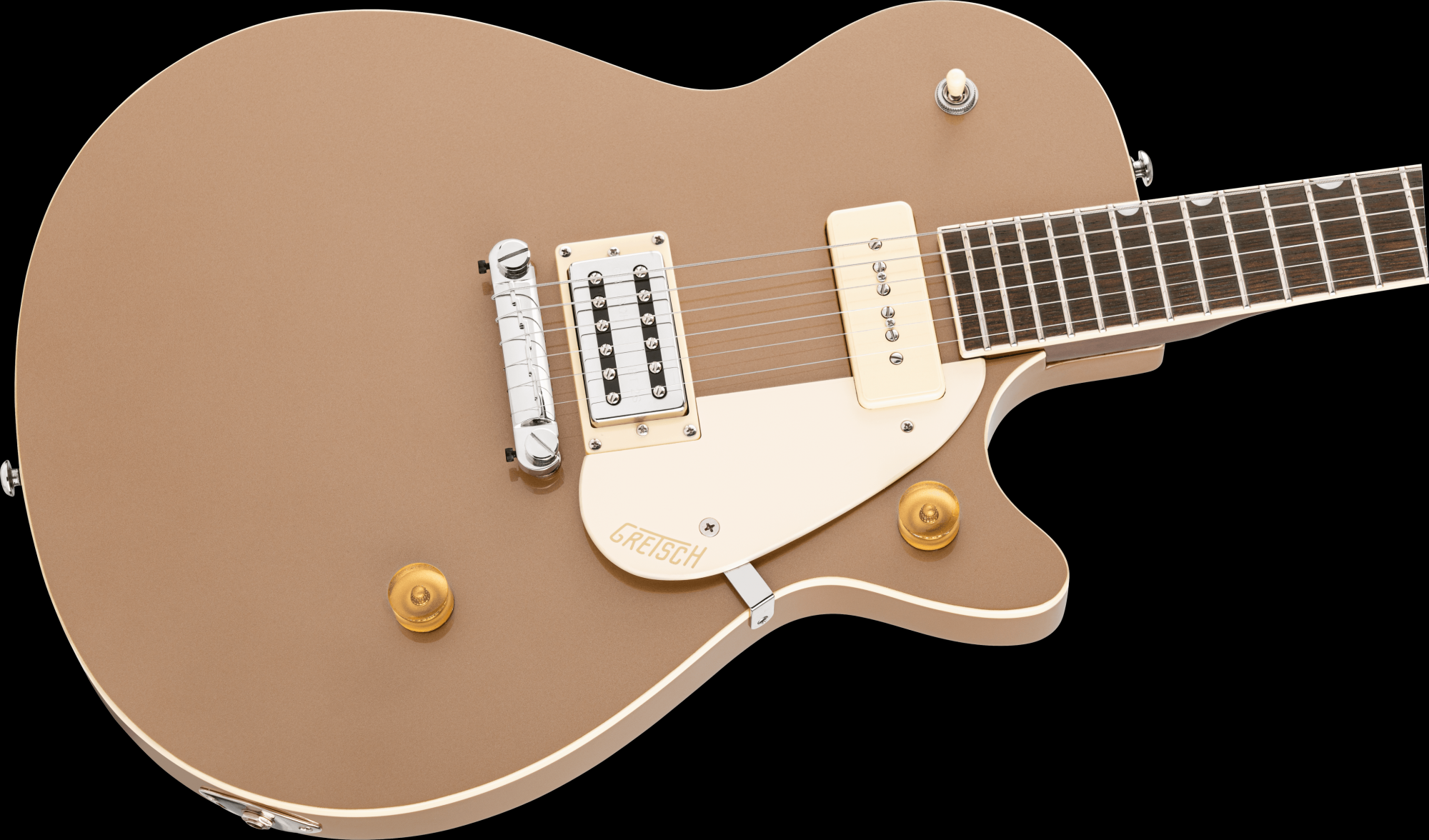 Gretsch G2215-P90 Streamliner Junior Jet Club - Sahara Metallic