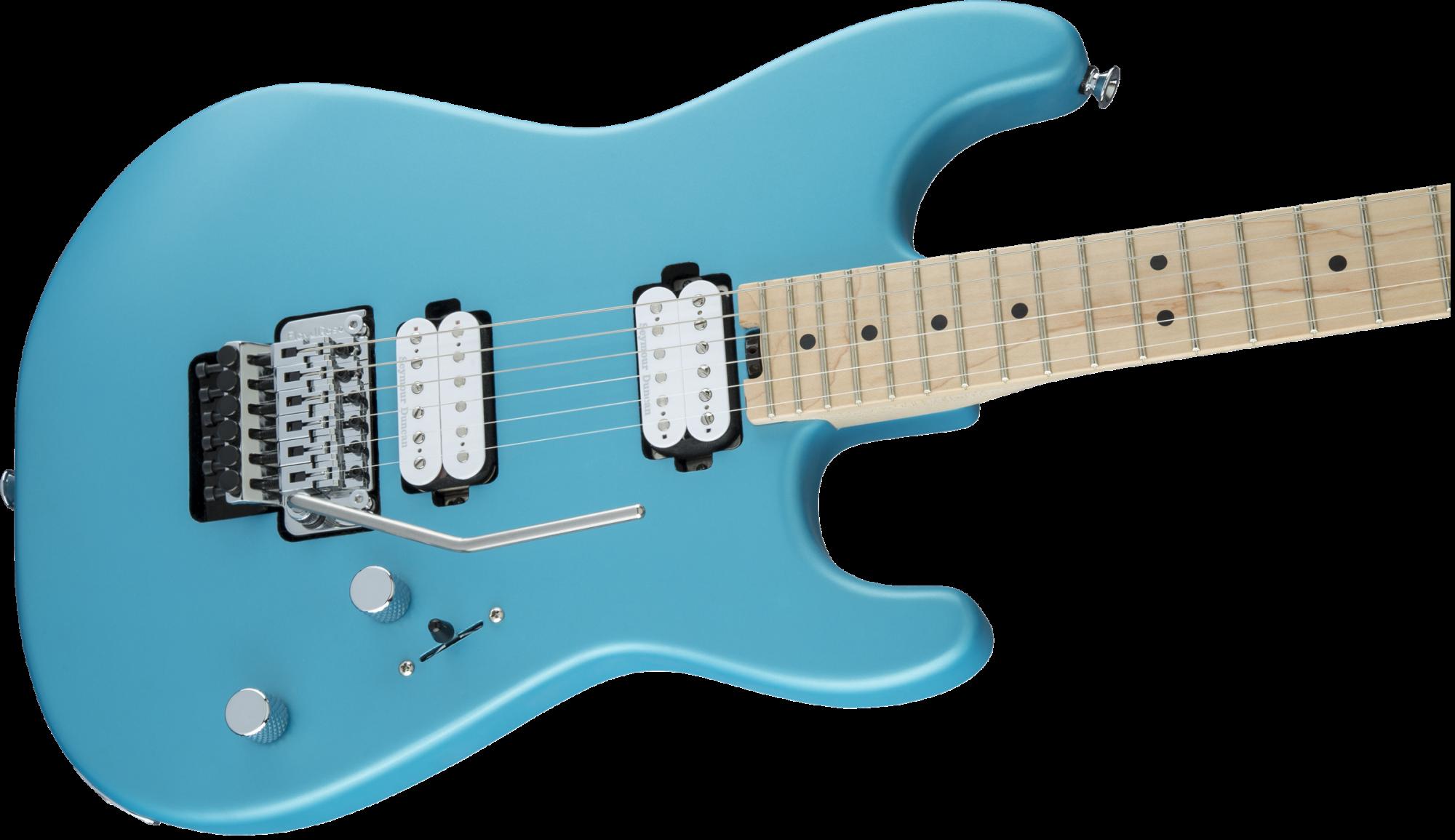 Charvel Pro-Mod San Dimas Style 1 HH FR M, Maple Fingerboard, Matte Blue Frost