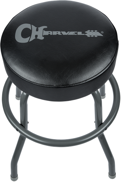 Charvel Barstool Black Stool and Legs with Gray Logo 24