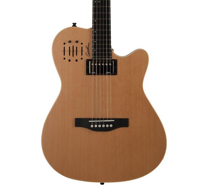 Godin A6 Ultra Guitar Natural SG w/ Gig Bag