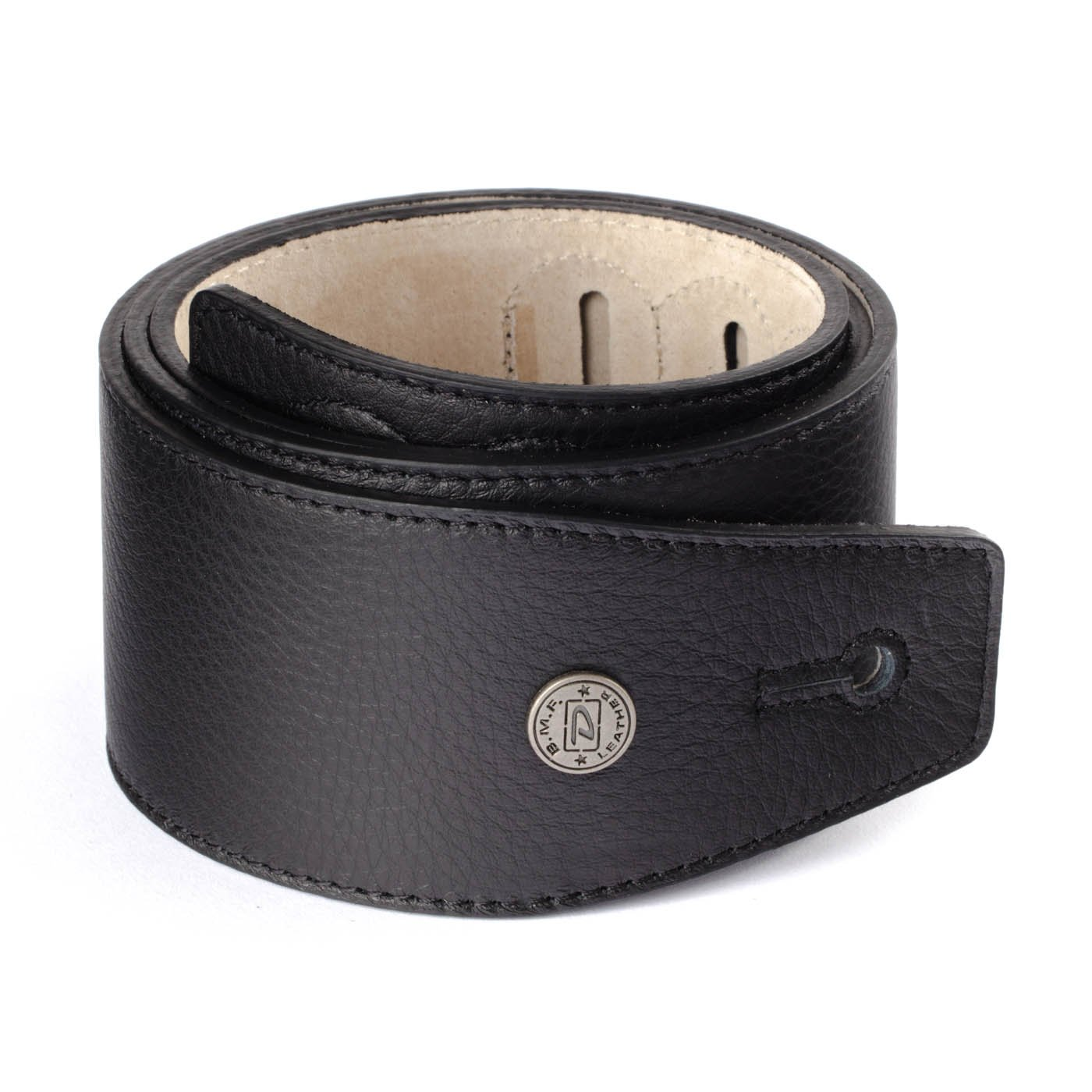 Dunlop BMF01BK 2.5 Leather Strap - Classic Black