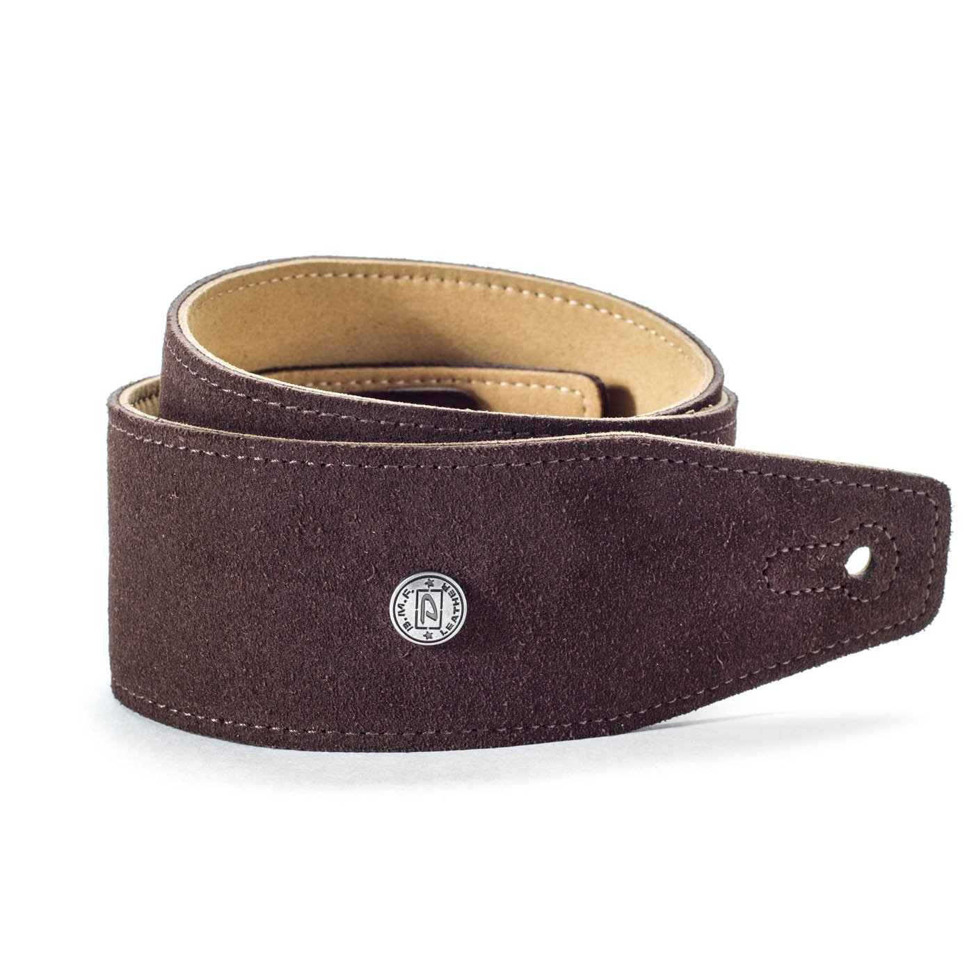 Dunlop BMF-S02 2.5 Suede Strap - Mahogany