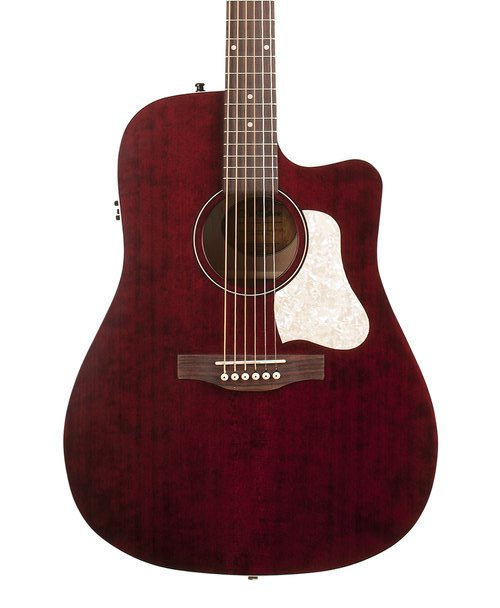Art & Lutherie Americana CW Q1T Acoustic-Electric Guitar-Tennessee Red