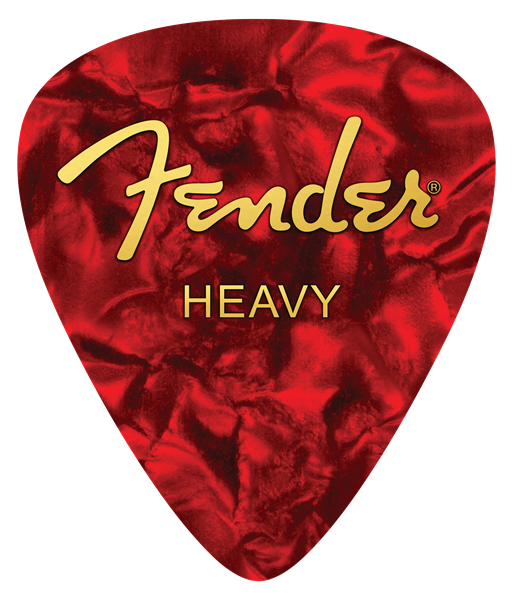 Fender Heavy Pick Mouse Pad, Red