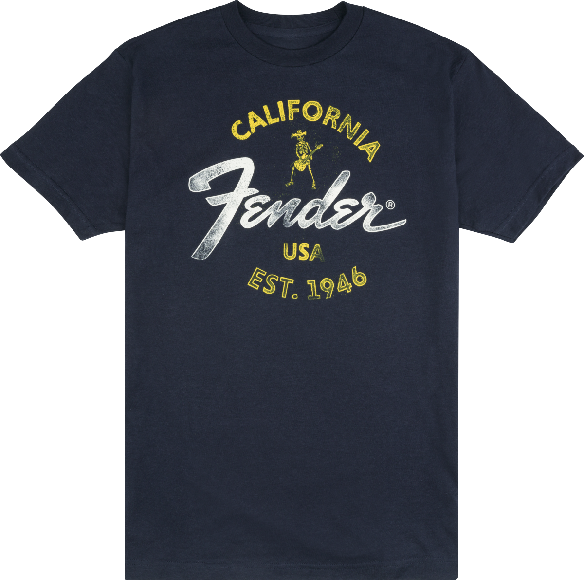 Fender Baja Blue T-Shirt Blue Large