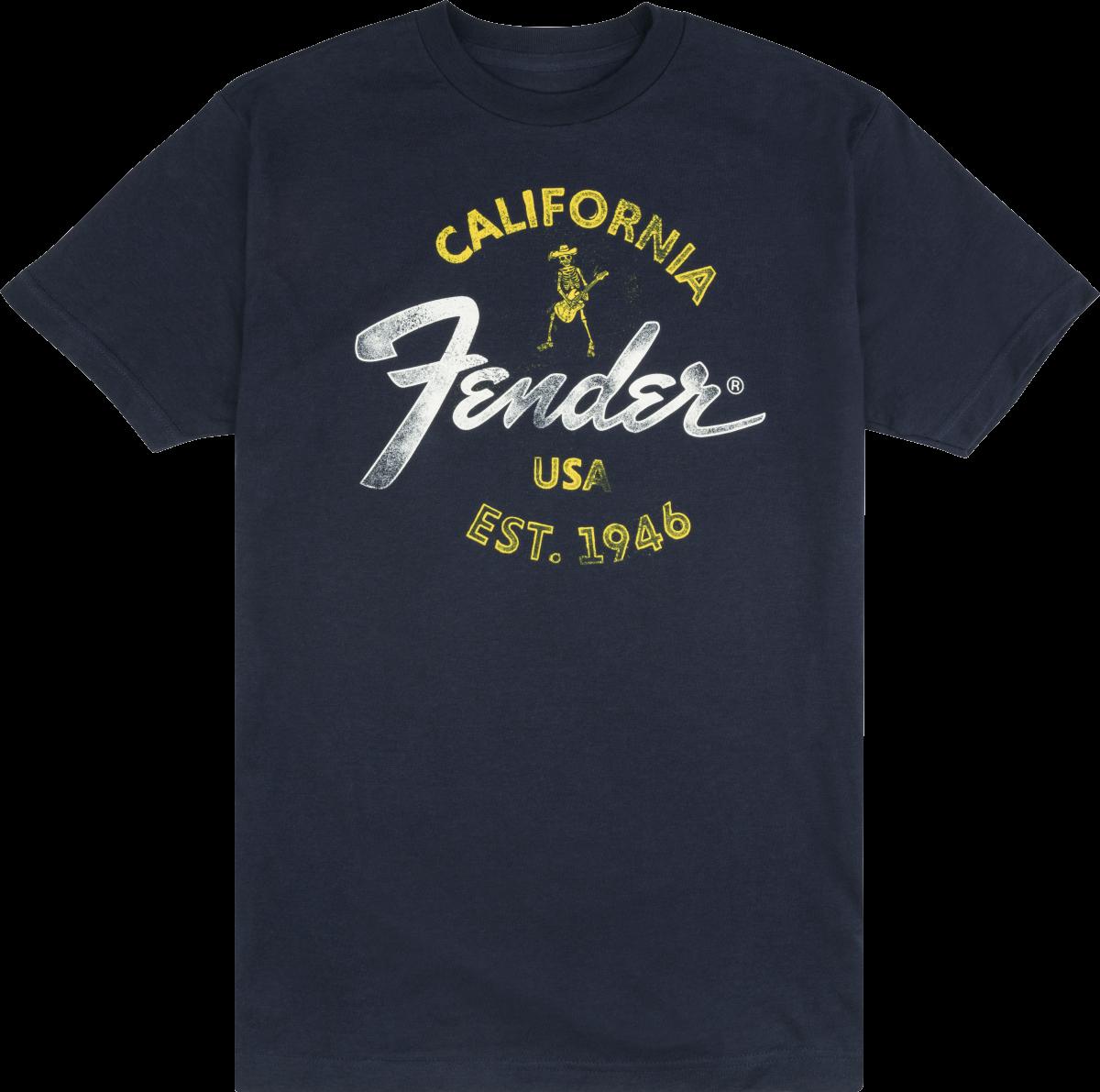 Fender Baja Blue T-Shirt Blue Medium