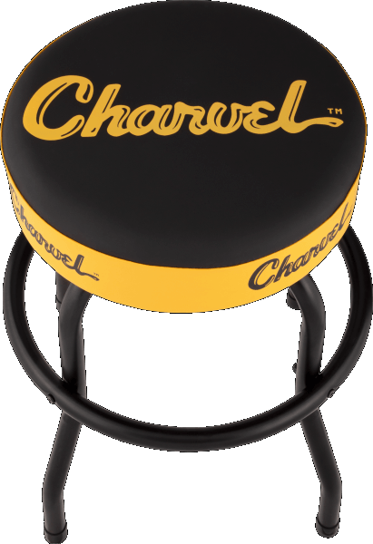 Charvel Toothpaste Logo Barstool Black and Yellow 24