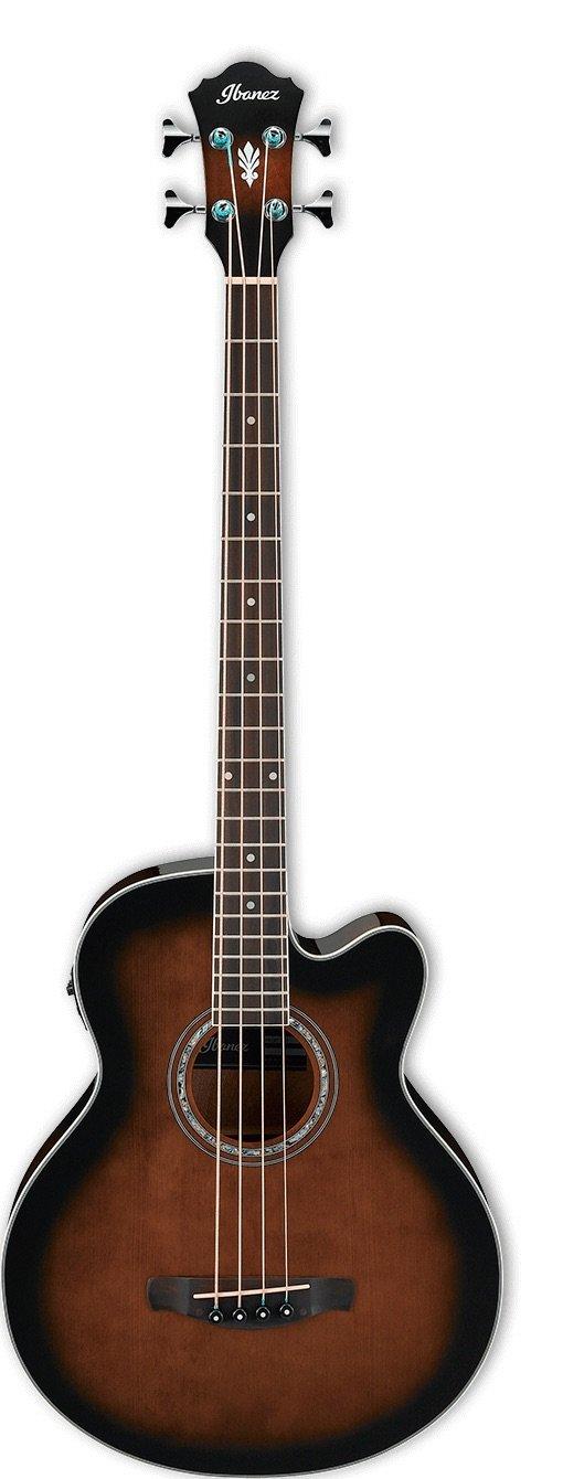 Ibanez AEB10EDVS Acoustic-Electric Bass - Dark Violin Sunburst High Gloss
