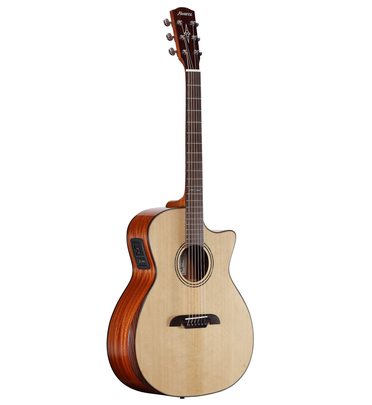 Alvarez AG60CEAR Artist Grand Auditorium Acoustic-Electric w/ Cutaway, Bevel Edge Armrest, EQ and Tuner