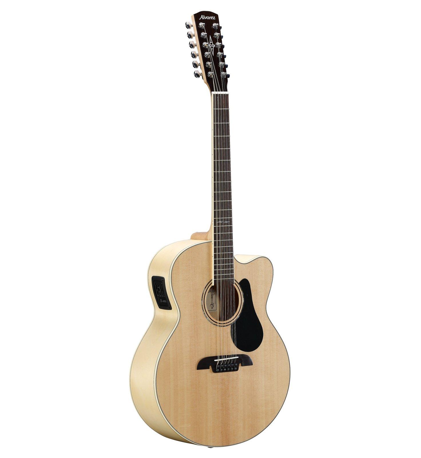 Alvarez AJ80CE-12 Artist Jumbo Acoustic-Electric 12 String w/ Cutaway, EQ & Tuner