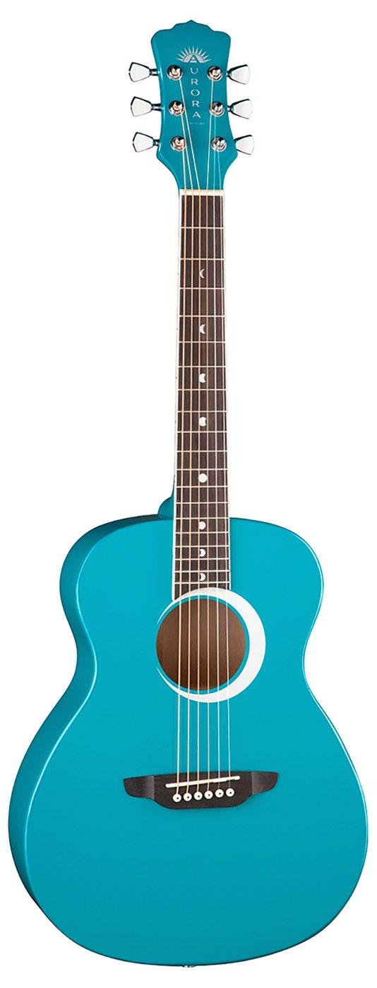 Luna Aurora Borealis 3/4 Guitar - Teal