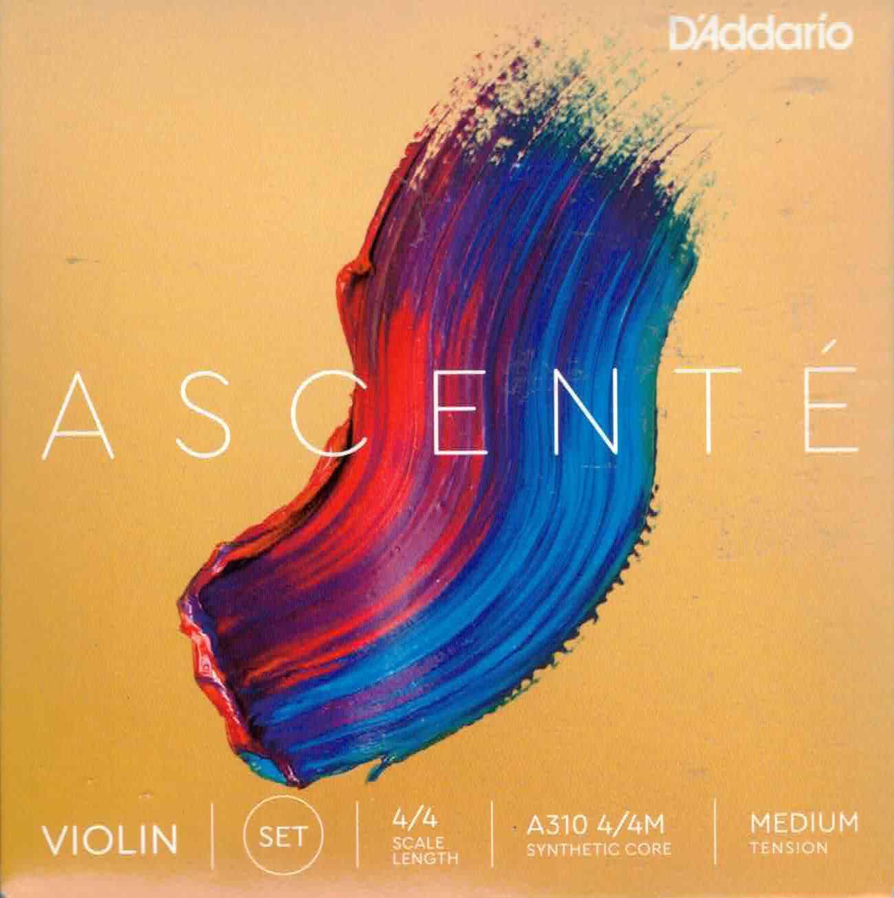 D'addario Ascente 4/4 Medium Tension Violin Strings