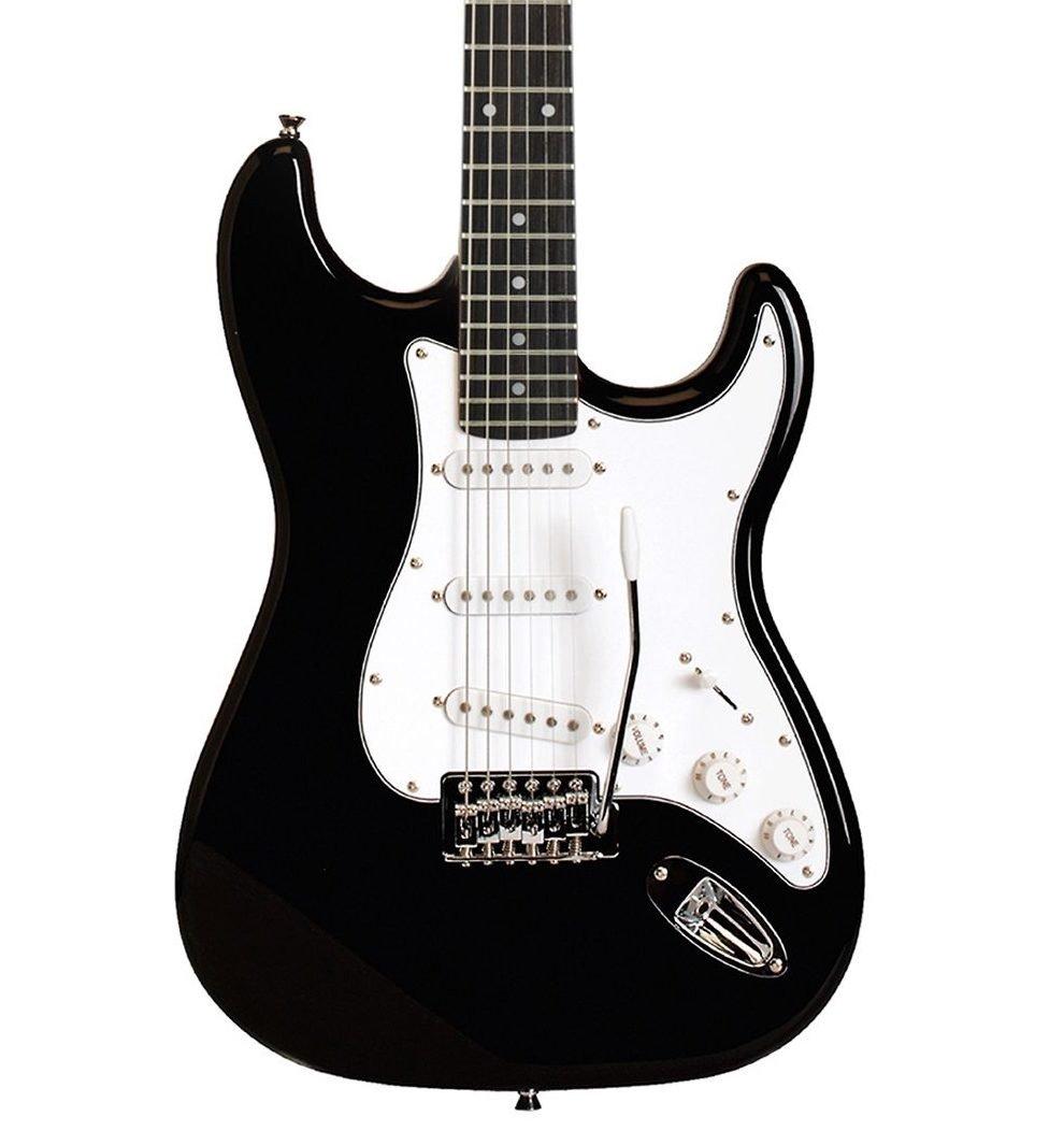 Austin AST100BK Classic Double Cutaway Electric Guitar - Black