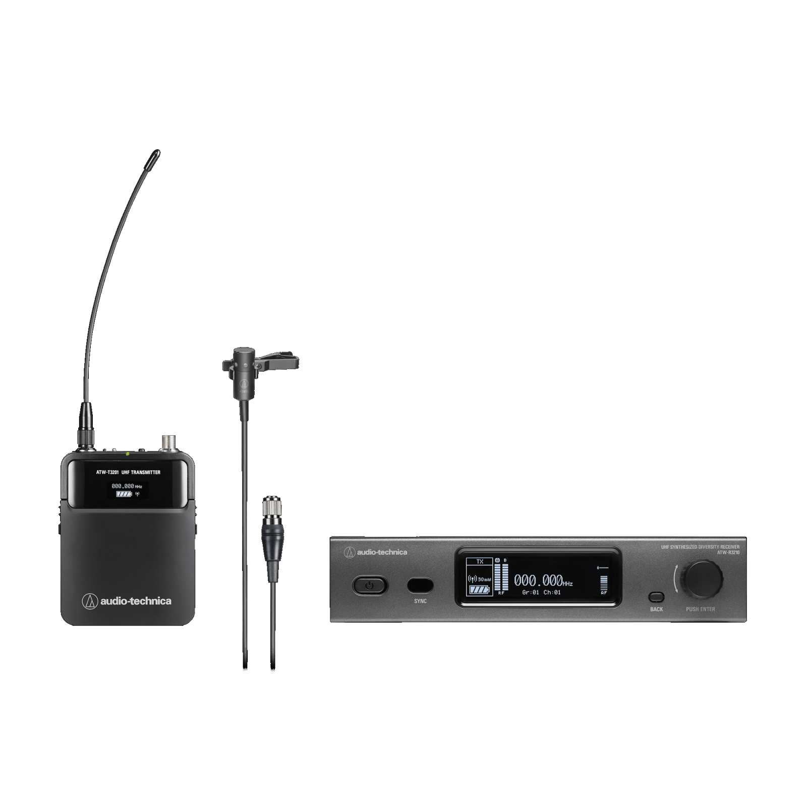 Audio-Technica ATW-3211/831 000 Series Wireless Lavalier Microphone System