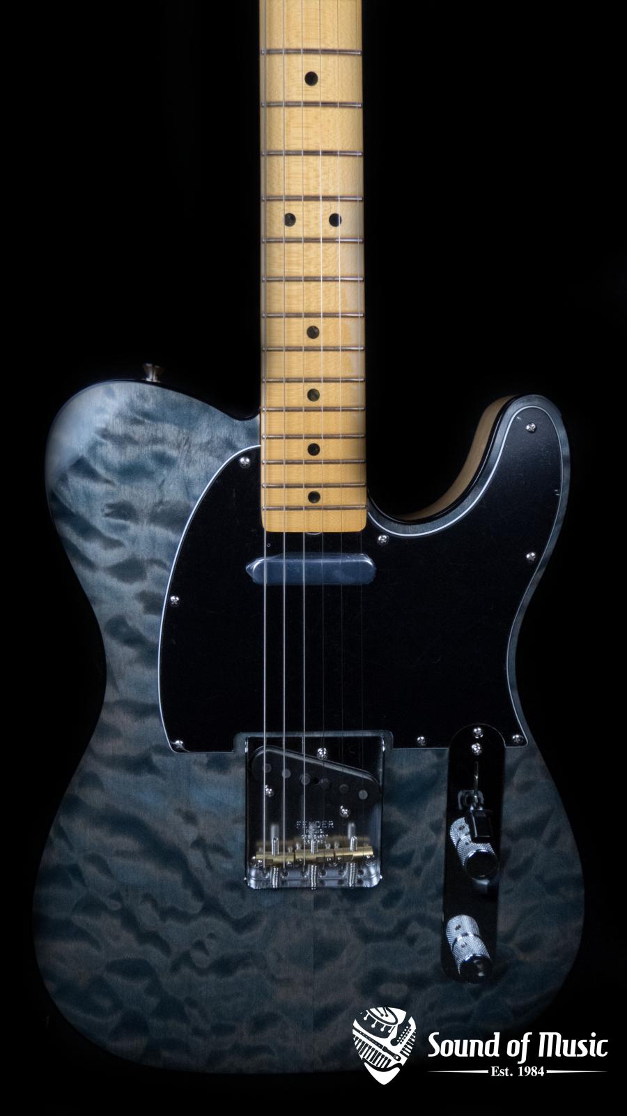 Fender Rarities Quilt Maple Top Telecaster, Maple Neck, Blue Cloud