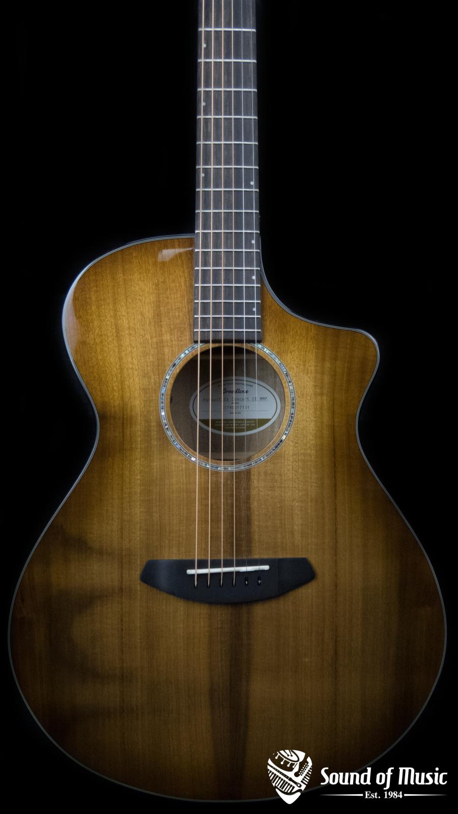 Breedlove Pursuit Exotic Concert Prairie Burst CE Myrtlewood Acoustic-Electric Guitar Dealer Exclusive
