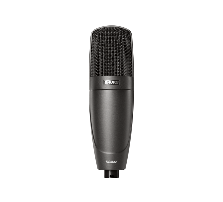Shure KSM32 Cardioid Studio Condenser Microphone–Stage Model Charcoal Gray