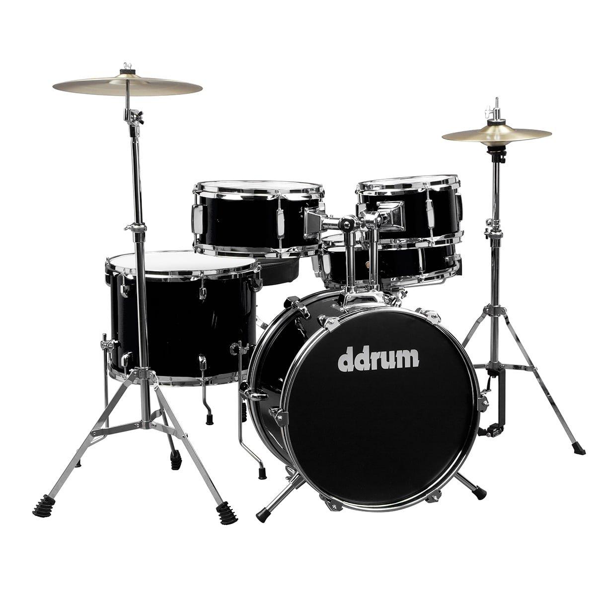 Ddrum D1 Complete Junior 5 pc. Drum Set - Midnight Black