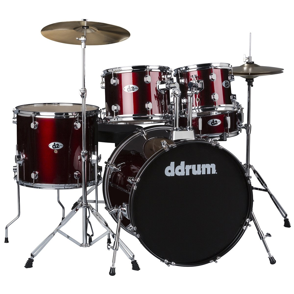 Ddrum D120 Complete 5pc. Drumset w/Cymbals and Hardware - Blood Red