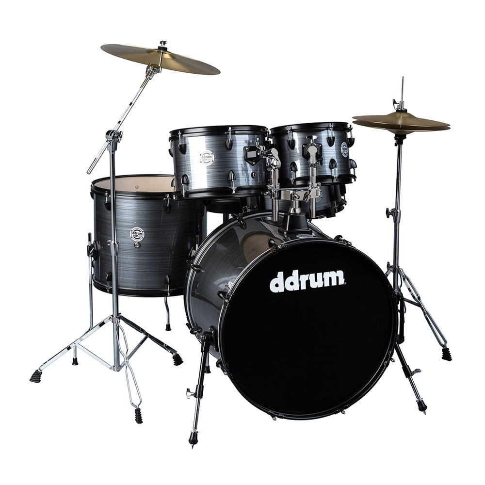 DDRUM D2 Player Drum Set 5 pc Complete Kit - Grey Pinstripe